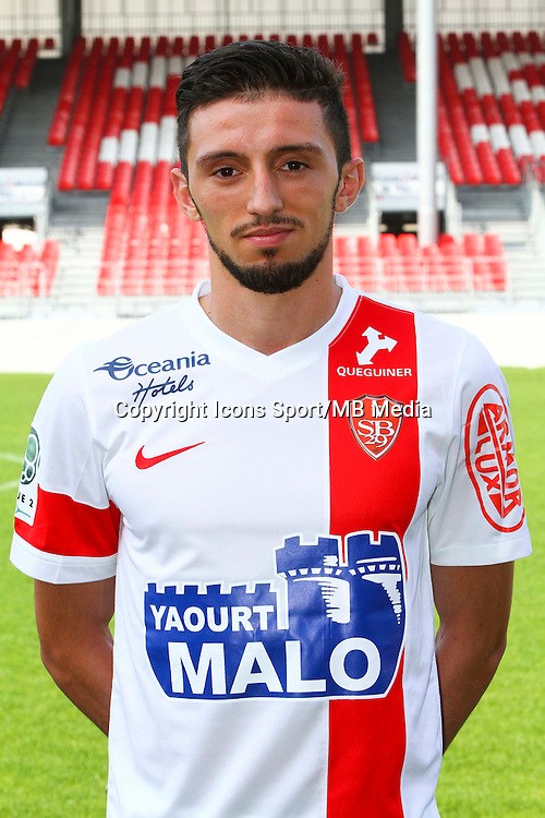 Abel KHALED - 08.09.2014 - Photo officielle Brest - Ligue 2 2014/2015<br /> Photo : Maxime Kerriou / Icon Sport