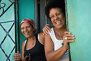 These women were getting a laugh out of our group of photographers photographing street life, Trinidad, Cuba