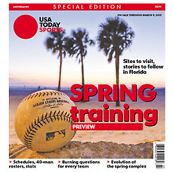 USA TODAY SPORTS WEEKLY 2015 Cover - Spring Training - Derick Hingle
