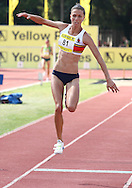 POTCHEFSTROOM, SOUTH AFRICA, Saturday 24 March 2012, Charlene Potgieter in the women's triple jump during the Yellow Pages Series 2 athletics meeting at the McArthur Stadium..Photo by Roger Sedres/Image SA