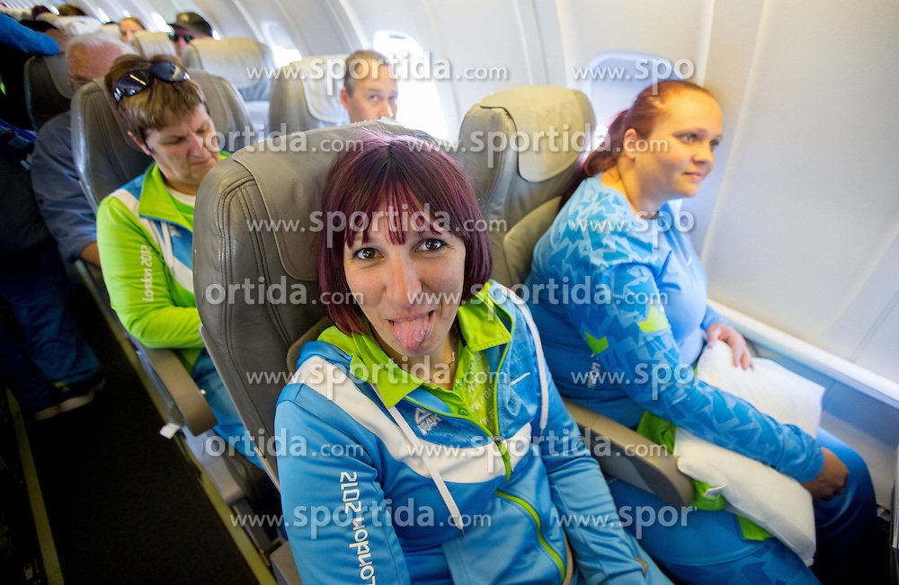 Tatjana Majcen Ljubic and Jasmina Zbil of Team Slovenia at Airport in Frankfurt during way back to Airport Joze Pucnik after the London 2012 Paralympic Games on September 10, 2012, in Frankfurt, Germany. (Photo by Vid Ponikvar / Sportida.com)