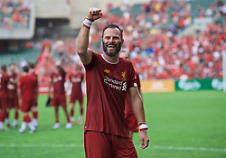 HONG KONG, CHINA - Saturday, June 8, 2019: Liverpool Legends' Patrik Berger during an exhibition match between Liverpool FC Legends and Borussia Dortmund Legends at the Hong Kong Stadium. (Pic by Jayne Russell/Propaganda)