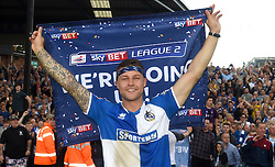 James Clarke of Bristol Rovers celebrates promotion from Sky Bet League 2 up to Sky Bet League 1  - Mandatory by-line: Joe Meredith/JMP - 07/05/2016 - FOOTBALL - Memorial Stadium - Bristol, England - Bristol Rovers v Dagenham and Redbridge - Sky Bet League Two