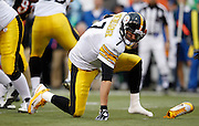 Sunday, Nov. 13, 2011 BENGALS SPORTS :  Pittsburgh Steelers quarterback Ben Roethlisberger (7) loses his shoe as he stmbles on the snap in the second quarter against the Cincinnati Bengals during their game at Paul Brown Stadium.The Enquirer/Jeff Swinger/Jeff Swinger