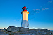 Peggy's Cove Lighthouse in iconic coastal fishing village<br />