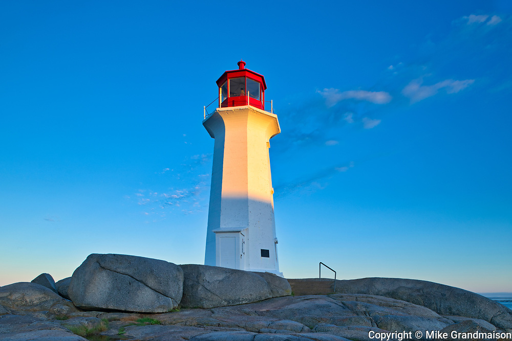 Peggy's Cove Lighthouse in iconic coastal fishing village<br />Peggy's Cove<br />Nova Scotia<br />Canada