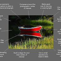 How to take better initiate landscape photography images - a free photo tip cheat sheet ready for download.