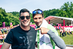 Robert Kranjec and Klemen Bucan during the  14th DM 5 km and 10 km Women's marathon, on 25 of May, 2019 in Tivoli, Ljubljana, Slovenia. Slovenia Photo by Matic Ritonja / Sportida