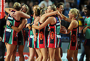Vixens celebrate Championship win <br /> Netball -  2009 ANZ Championship Grand Final<br /> Melbourne Vixens vs Adelaide Thunderbirds<br /> Hisense Arena, Melbourne<br /> Sunday, 26 July 2009<br /> © Sport the library / Jeff Crow