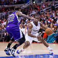 25 October 2013: Sacramento Kings point guard Isaiah Thomas (22) defends on Los Angeles Clippers point guard Chris Paul (3) during the Sacramento Kings 110-100 victory over the Los Angeles Clippers at the Staples Center, Los Angeles, California, USA.