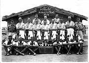 Athletic team from the King's African Rifles pose for a photo in 1944.