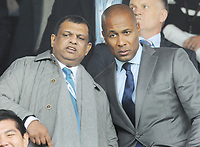 Football - 2016 /2017 Championship - Fulham vs Queens Park Rangers<br /> <br />  QPR chairman Tony Fernandes with Les Ferdinand at Craven Cottage<br /> <br /> <br /> Credit : Colorsport / Andrew Cowie