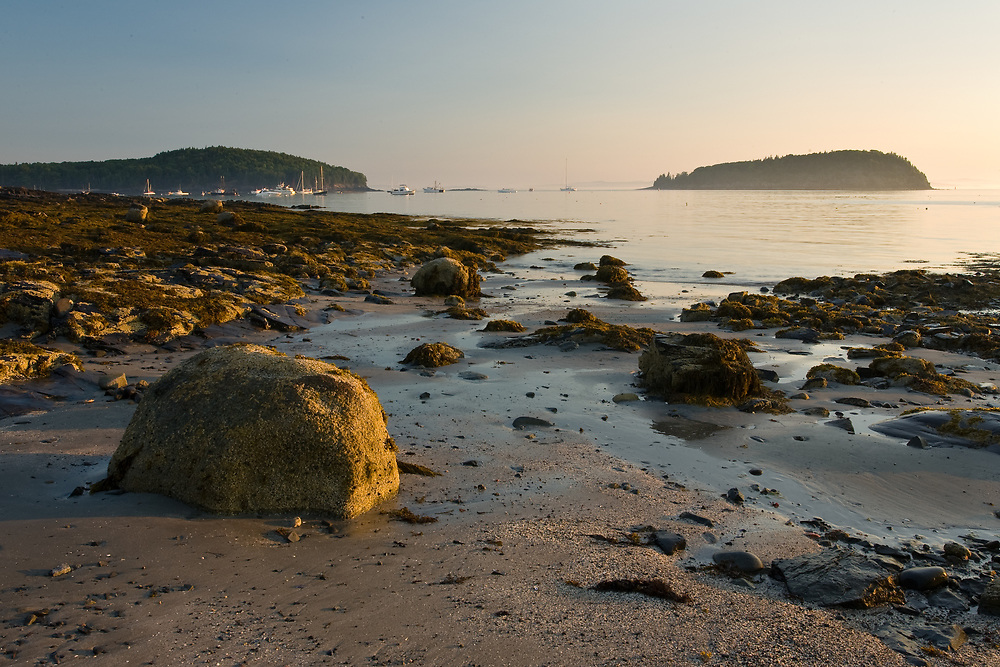Early moring light on Frenchman Bay and the Porcupine Islands, Bar Harbor Maine.
