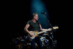 Bassist and lead vocalist Sting (Gordon Sumner) of The Police performed in concert at the John Paul Jones Arena in Charlottesville, VA on November 6, 2007.