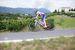 Shara Gillow (AUS) of FDJ Nouvelle Aquitaine Futuroscope Team leans into a corner on the descent from Ca' dell Poggio during Stage 3 of the Giro Rosa - a 100 km road race, between San Fior and San Vendemiano on July 2, 2017, in Treviso, Italy. (Photo by Balint Hamvas/Velofocus.com)