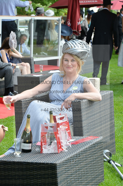 SALLY BERCOW wife of the Speaker of the House of Commons at the 1st day of the Royal Ascot Racing Festival 2015 at Ascot Racecourse, Ascot, Berkshire on 16th June 2015.