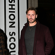Stuart Compton attend Fashion Scout LFW AW19 Day 1 at Freemasons' Hall, London, UK. 15 Feb 2019