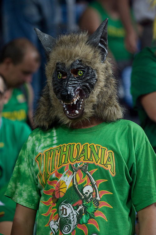 Lithuanian fan at the world basketball champs, Istanbul, Turkey, Wednesday, September 08, 2010. Credit:SNPA / Ben Campbell