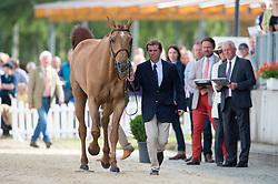 Soullez Geoffroy, (FRA), Madiran du Liot*HN     <br /> First Horse Inspection <br /> CCI4* Luhmuhlen 2016 <br /> © Hippo Foto - Jon Stroud