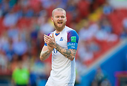 MOSCOW, RUSSIA - Saturday, June 16, 2018: Iceland's Aron Gunnarsson during the FIFA World Cup Russia 2018 Group D match between Argentina and Iceland at the Spartak Stadium. (Pic by David Rawcliffe/Propaganda)