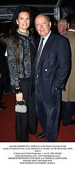 JULIAN & EMMA FELLOWES he is the Oscar winning script writer of Gosfrod Park, at an exhibition in London on 4th November 2003.POF 4