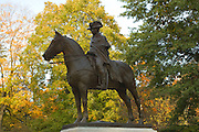 Statue of George Wahsington across from his headquarters in Morristown, NJ, Morris County