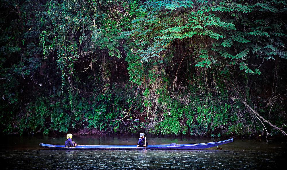 Fishing the Nam Tha (river), Luang Namtha, Laos.