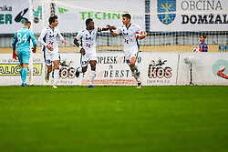 Players of ND Gorica celebrate during football match between NK Domzale and ND Gorica in 14th Round of Prva liga Telekom Slovenije 2018/19, on November 7, 2018 in Sportni Park, Domzale, Slovenia. Photo by Matic Klansek Velej / Sportida