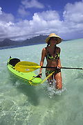 Kayaking, Kaneohe Bay, Oahu, Hawaii<br />