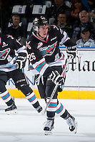 KELOWNA, CANADA - NOVEMBER 20: Cole Linaker #26 of Kelowna Rockets skates against the Edmonton Oil Kings on November 20, 2015 at Prospera Place in Kelowna, British Columbia, Canada.  (Photo by Marissa Baecker/Getty Images)  *** Local Caption *** Cole Linaker;