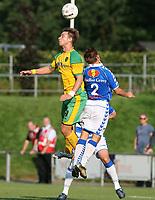 Photo: Maarten Straetemans.<br /> FC Zwolle v Norwich City. Pre Season Friendly. 25/07/2007.<br /> David Strihavka (left) with Rob Van der Sluijs