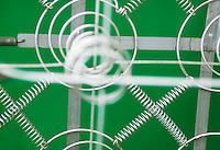 Closeup of box spring mattress &#xA;<br />