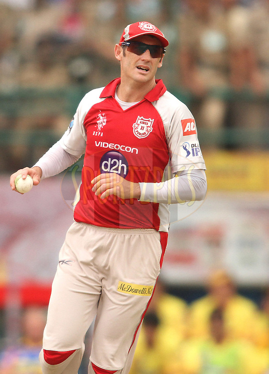 David Hussey of the Kings XI Punjab during match 66 of the the Indian Premier League (IPL) 2012  between The Kings X1 Punjab and The Chennai Superkings held at the HPCA Stadium, Dharamsala, on the 17th May 2012..Photo by Shaun Roy/IPL/SPORTZPICS