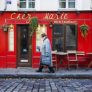 Paris (France). Restaurant in the streets of Montmartre