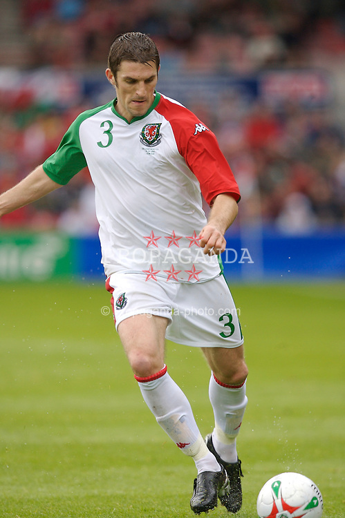 Wrexham, Wales - Saturday, May 26, 2007: Wales' Sam Ricketts in action against New Zealand during the International Friendly match at the Racecourse Ground. (Pic by David Rawcliffe/Propaganda)