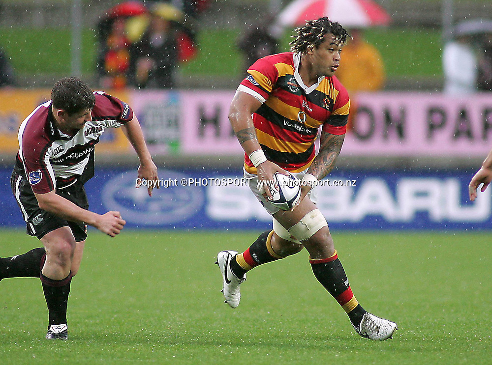 Waikato's Sione Lauaki during the Air NZ Cup rugby match between Waikato and North Harbour played at Waikato Stadium, Hamilton, New Zealand on Sunday 1 October  2006. Waikato won 31-15    Photo: Brett O'Callaghan/PHOTOSPORT