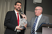 Master of ceremonies John Brown interviews Julian Speroni - DundeeFC Hall of Fame at the Apex Hotel<br /> <br />  - &copy; David Young - www.davidyoungphoto.co.uk - email: davidyoungphoto@gmail.com