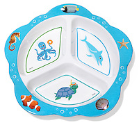 kids sea-themed plate