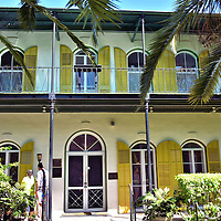 Ernest Hemingway House in Key West, Florida<br /> Ernest Hemingway and his recently married second wife Pauline arrived in Key West in 1928.  A few months later, their first child was born while he was finishing A Farewell to Arms. After spending two winters in Florida, they became permeant residents in this 1851 Spanish colonial mansion until their divorce in 1940. He periodically returned until his death. The house is filled with Papa's antiques collected during his travels to Europe, Africa and Cuba. The National Historic Landmark is now a museum.