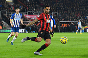 Callum Wilson (13) of AFC Bournemouth on the attack during the Premier League match between Bournemouth and Brighton and Hove Albion at the Vitality Stadium, Bournemouth, England on 21 January 2020.