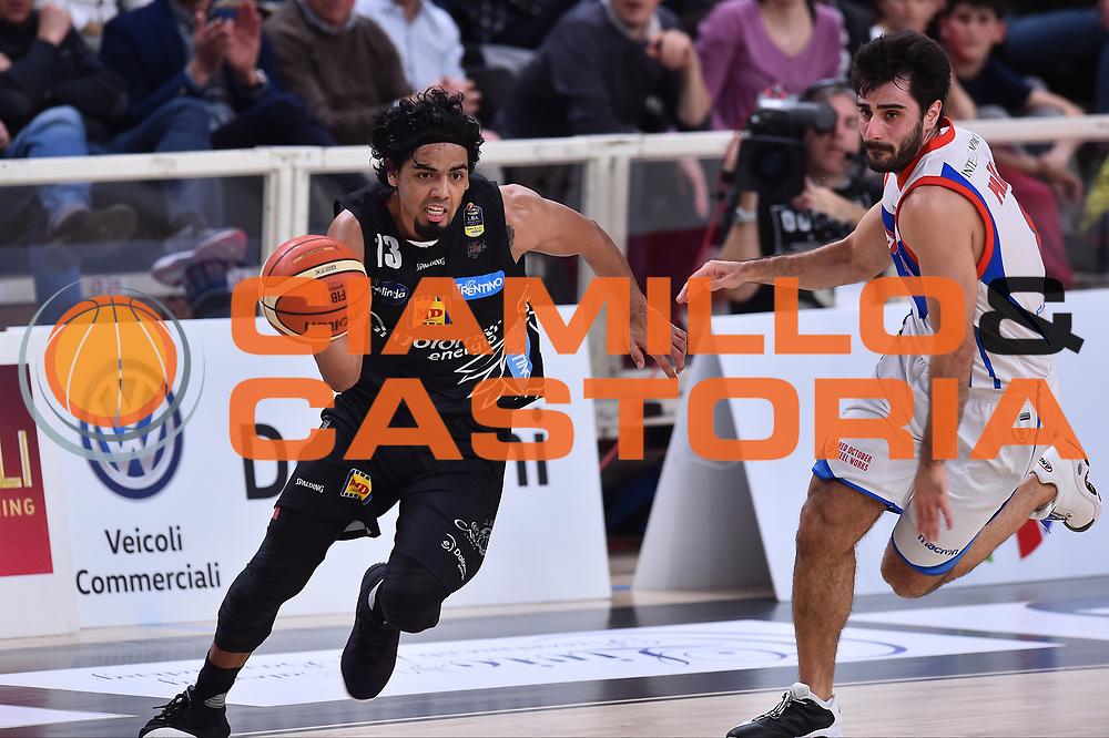 Campionato Italiano Legabasket 2017/18<br /> 19^ Giornata - Ritorno - 10/0272018 <br /> Dolomiti Energia Trentino - Red October Cant&ugrave;<br /> Nella foto Gutierrez Jorge<br /> Foto GiulioCiamillo/Ciamillo-Castoria