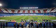 MADRID, persconferentie en training PSV en Atletico, voetbal Champions League, seizoen 2015-2016, 14-03-2016, Estadio Vicente Calderon, training PSV, overzicht stadion.