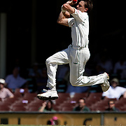 South African Bowler Dale Steyn in action during day four of the third test match between Australia and South Africa at the Sydney Cricket Ground on January 6, 2009 in Sydney, Australia. Photo Tim Clayton