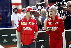 May 9, 2019 - Barcelona, Spain - Motorsports: FIA Formula One World Championship 2019, Grand Prix of Spain, ..#5 Sebastian Vettel (GER, Scuderia Ferrari Mission Winnow), Britta Roeske (GER, Scuderia Ferrari Mission Winnow) (Credit Image: © Hoch Zwei via ZUMA Wire)