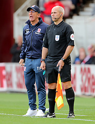 Middlesbrough manager Tony Pulis shouts from the touchline