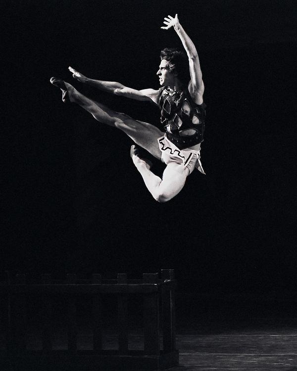 Prodigal Son.Dancer Damian Woetzel.New York City Ballet.Choreography by George Balanchine.Photo By Paul Kolnik.New York City