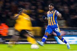 Fejiri Okenabirhie of Shrewsbury Town is tackled - Mandatory by-line: Robbie Stephenson/JMP - 05/02/2019 - FOOTBALL - Molineux - Wolverhampton, England - Wolverhampton Wanderers v Shrewsbury Town - Emirates FA Cup fourth round replay