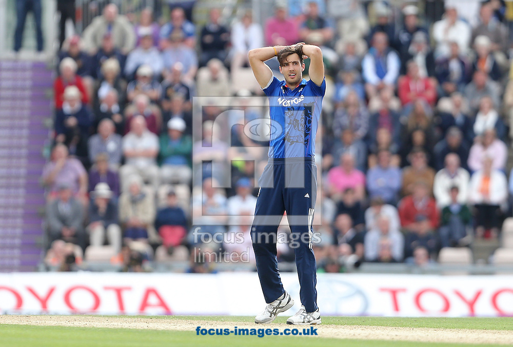 Steve Finn of England looks on during the Royal London One Day Series match at the Ageas Bowl, West End<br /> Picture by Paul Terry/Focus Images Ltd +44 7545 642257<br /> 14/06/2015