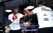 Lawrence Okolie and Isaac Chamberlain Public Workout - 31 January 2018