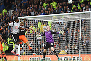 Derby County forward Darren Bent (11) puts the ball over the bar during the EFL Sky Bet Championship match between Derby County and Sheffield Wednesday at the iPro Stadium, Derby, England on 29 October 2016. Photo by Jon Hobley.